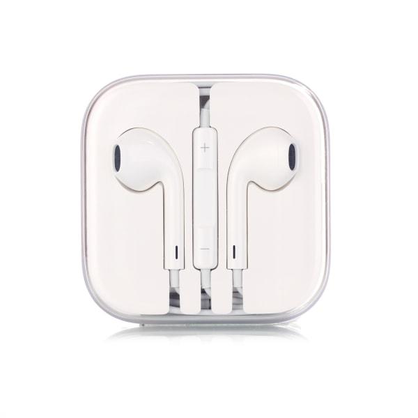 5-Pack Hörlurar med Mikrofon och Volymkontroll vit