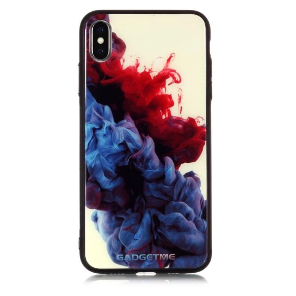 Velvet iPhone Xs Max skal oljig blå