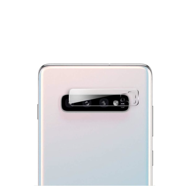 2-PACK CRYSTAL GUARD SAMSUNG GALAXY S10 + KAMERALINSSKYDD 0.15MM Transparent