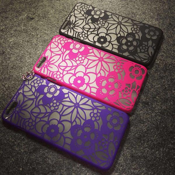 iPhone 6/ 6s   New Flower, Flera Färger! Svart