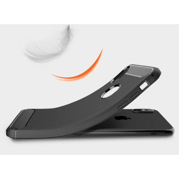 iPhone X/XS | Stilrent Skyddande Karbonfiberskal Svart