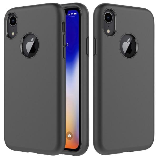 iPhone X/XS   Tvåfunktionsskal, Både Hårt och Mjukt! Svart