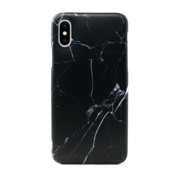iPhone XS Max   Mjukt, Svart Marmorskal Svart