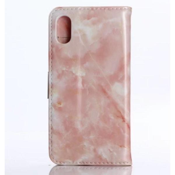 iPhone XS Max   Plånboksfodral med Marmormönster, Flera Färger! Rosa