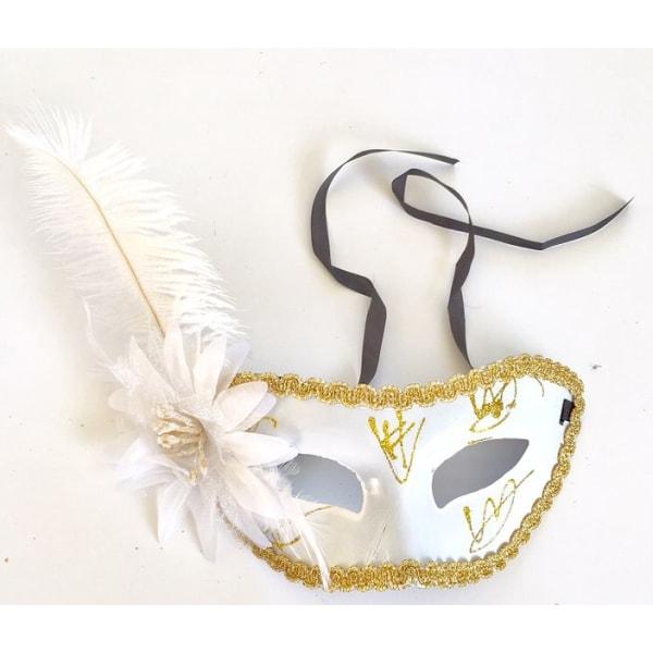 Halloween mask spets / fjädrar. Vietnamesisk Svart