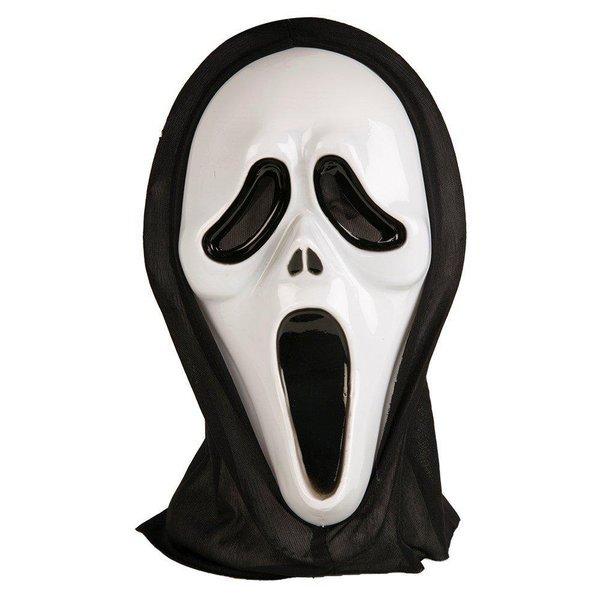 Halloweendräkt skelett + handskar + mask VUXEN