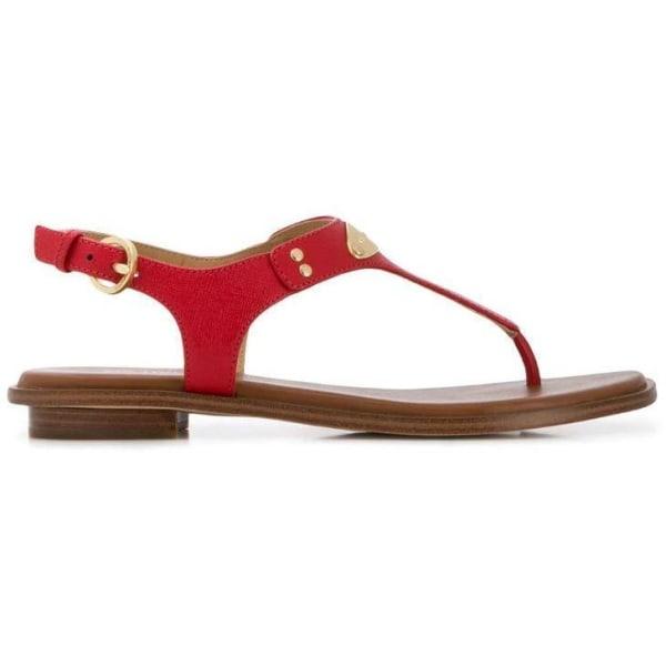 Mk Plate Thong Sandaler Brown 4