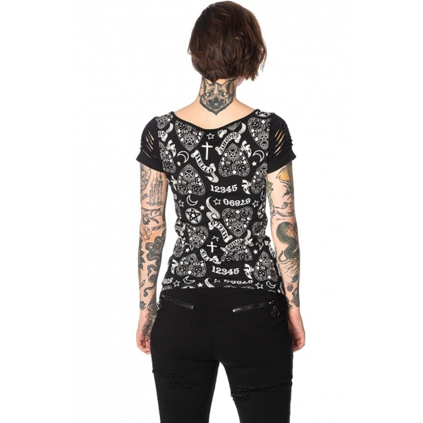 Banned Alternative - TEEN GOTH HELLO GOODBYE - T-Shirt XL / Black