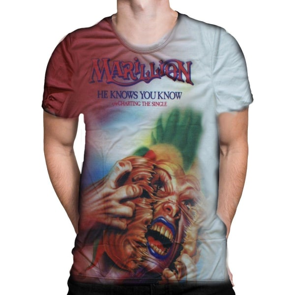 Born2Rock - HE KNOW YOU KNOW - Marillion T-Shirt XXL / Multicoloured