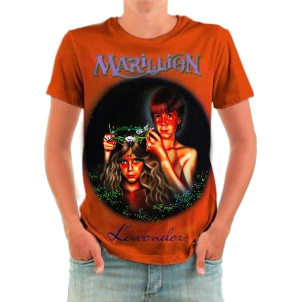 Born2Rock - LAVENDER - Marillion Men's T-shirt XXXXL / Orange