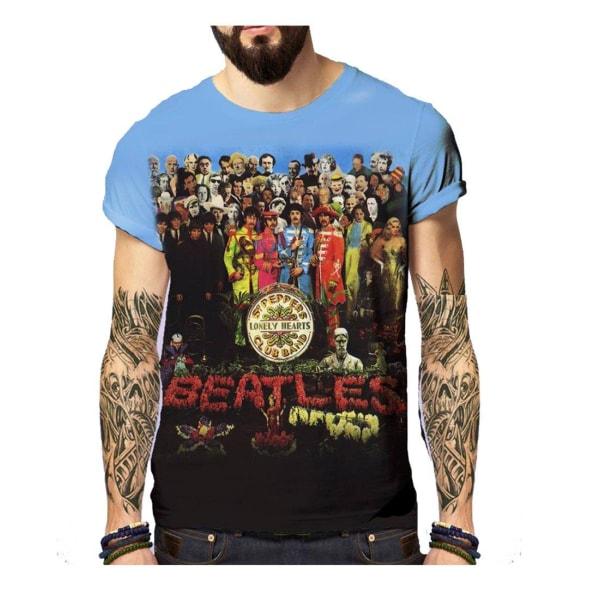 Born2Rock - SGT PEPPER'S - The Beatles Mens T-Shirt XXL / Blue
