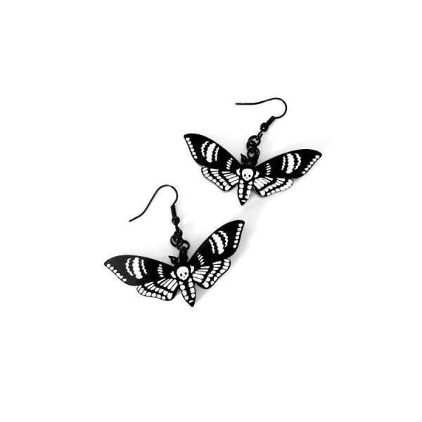 Curiology - DEATHS HEAD MOTH - Earrings, Fashion Jewellery One Size