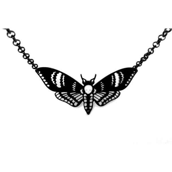 Curiology - DEATHS HEAD MOTH - Large Necklace - Black - Fashion