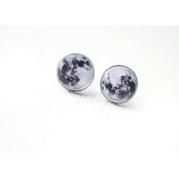 Curiology - FULL MOON - Stud Earrings