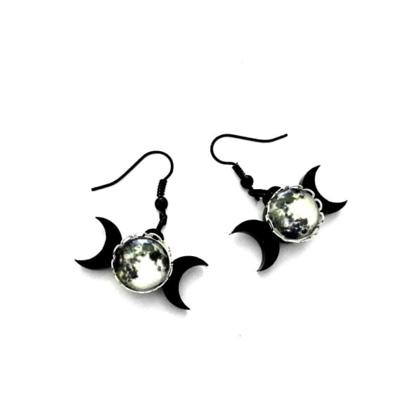 Curiology - TRIPLE GODDESS - Black Earrings, Fashion Jewellery
