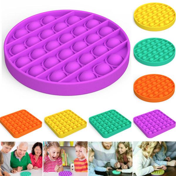 Pop it Fidget Toy Family Toys Bubble Sensory Push Pop Toy  Purple Square