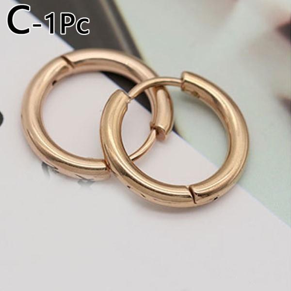 Kvinnor runda rostfria smycken punktera stålörhängen