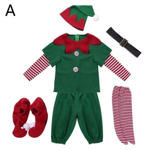 Vuxna Unisex Elfdräkt Christmas Santa Helper Xmas Dress