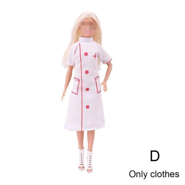 Kläder Läkare Sjuksköterska Dräktsplats Cosplay Kläder 30cm