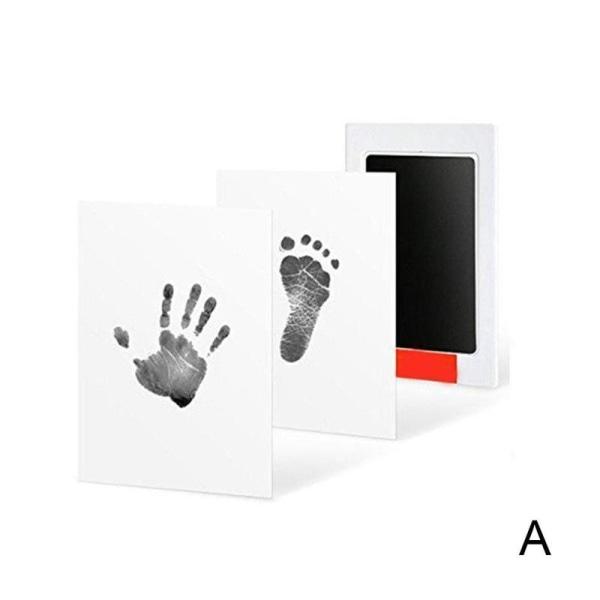 Inkless Wipe Baby Kit Hand Foot Print Nyfödd Footprint Clay Toy