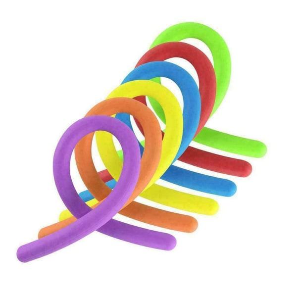 Stretchy Noodle String Neon Kids Childrens Fidget Sensory