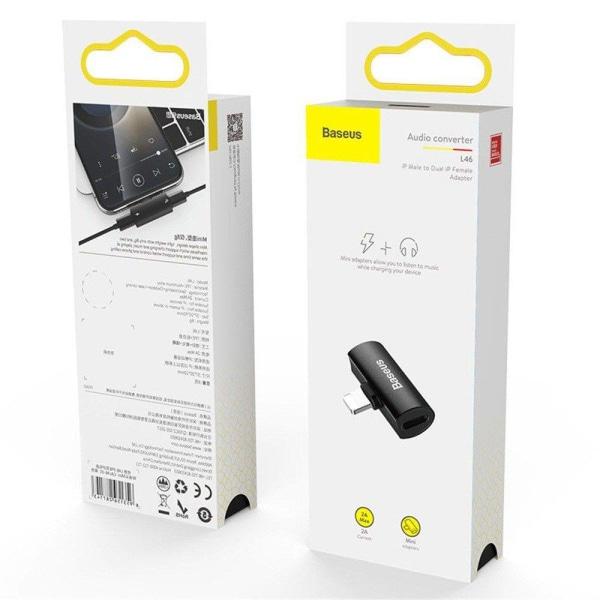 Baseus Adapter för Laddning & Ljud - Svart