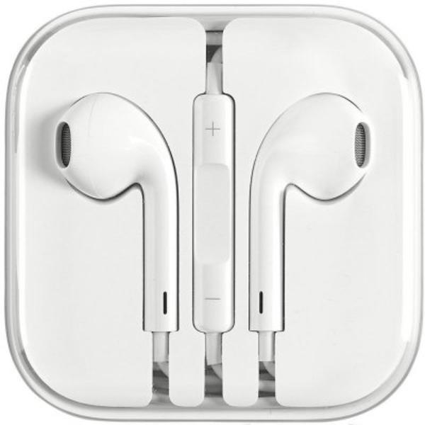 Headset Earpods för iPhone med volymkontroll 3.5 mm - Vit