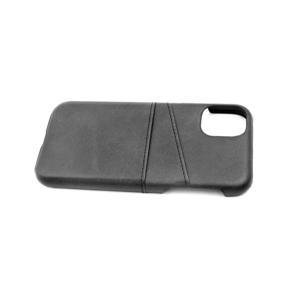 iPhone 11 Pro Läderskal med Kortfickor Svart