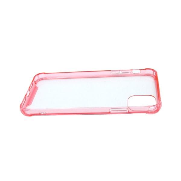 iPhone 11 Pro Max Skyddande Silikonskal Transparent Rosa
