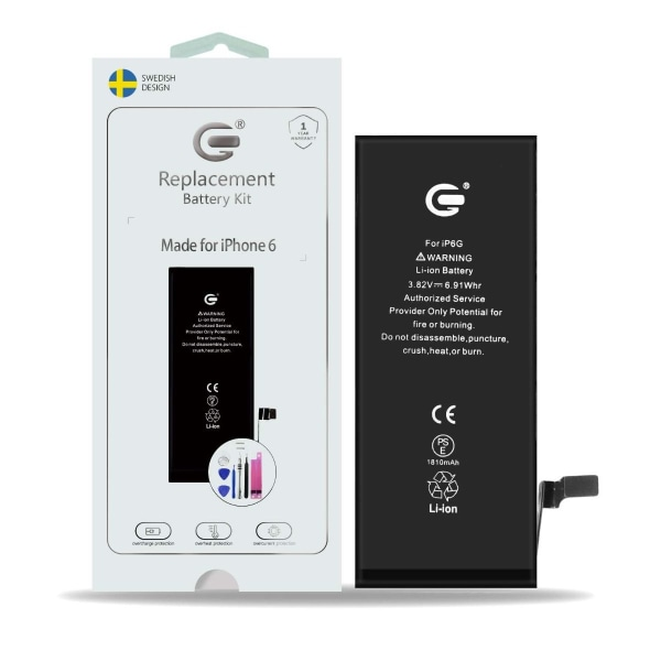 iPhone 6 Batterikit Komplett - Högsta kvalitet