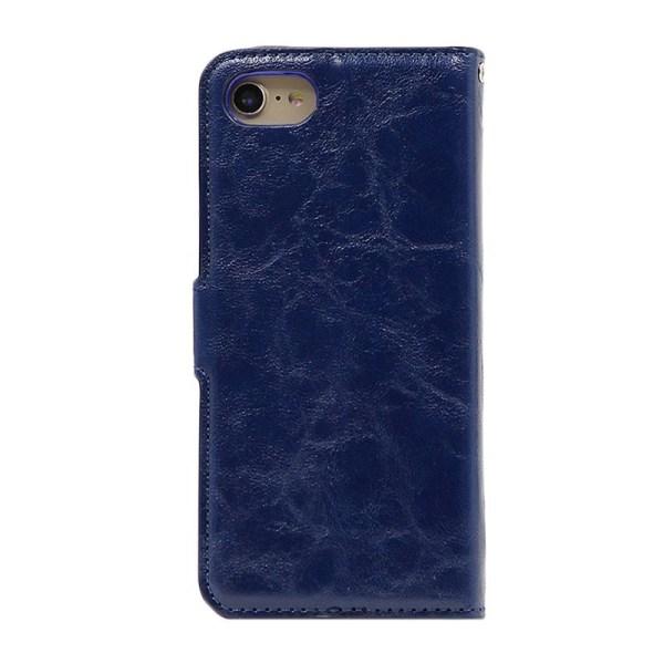 iPhone 7/8 Magnetisk Läderplånbok med Löstagbart Skal Blå
