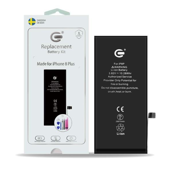 iPhone 8 Plus Batterikit Komplett - Högsta kvalitet