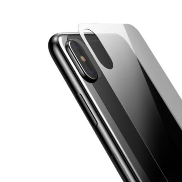 iPhone XS Max skydd för baksidan i Härdat Glas (Transparent)