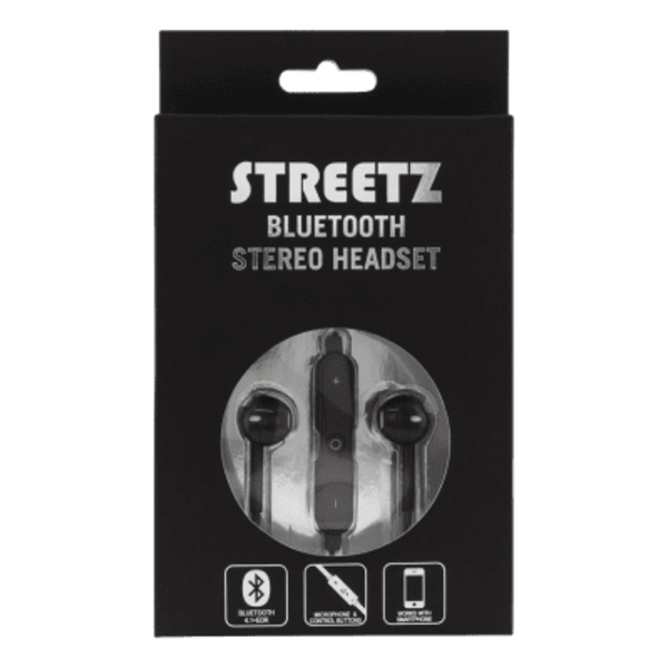 STREETZ Bluetooth in-ear headset - Svart
