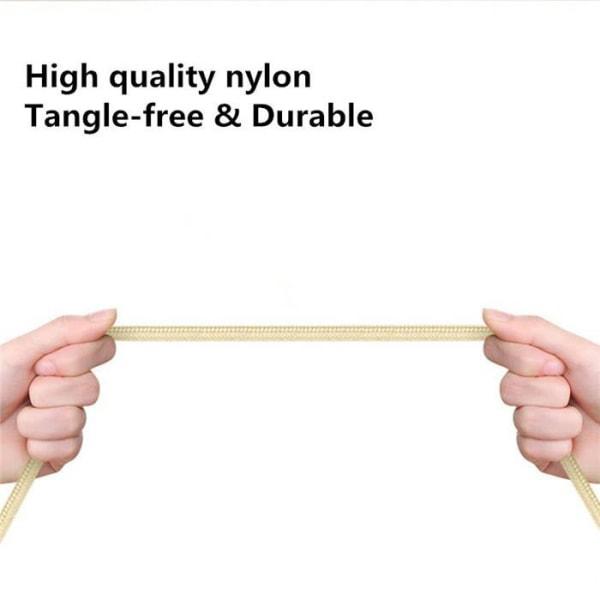 3m Hög kvalitets USB-C SnabbladdningsKabel laddare Type-C Guld