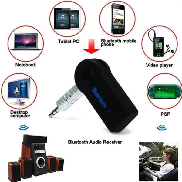 Bluetooth Ljudmottagare - Bluetooth Audio Receiver Svart