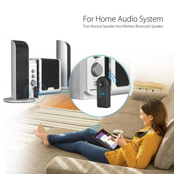 Bluetooth Sändare / Musikmottagare med Aux till Bilen Svart
