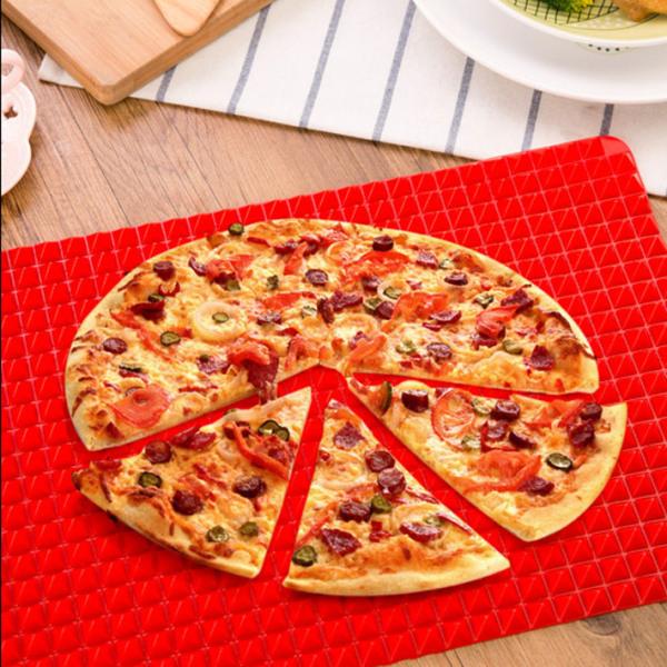 2x pyramidpanna non-stick matlagning silikon röd konditorivaror 1pc matta