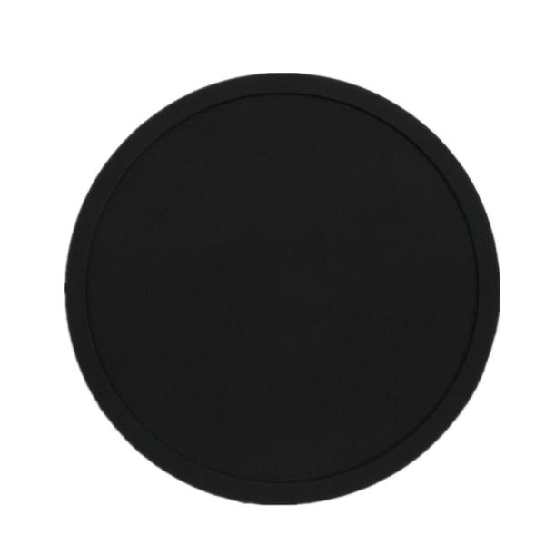4x Färgglada Silikon Extra Stor Tjock Bakläggning / Bakverk / Pi Coasters Black 1
