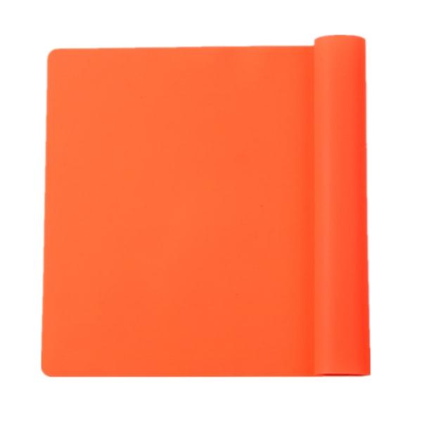 4x Färgglada Silikon Extra Stor Tjock Bakläggning / Bakverk / Pi Matta orange 1