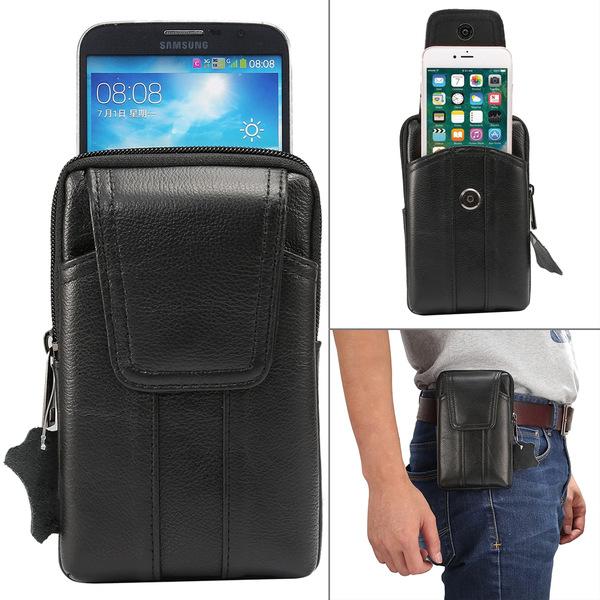 Bältesväska Universal 6.2 tum mobil i äkta läder