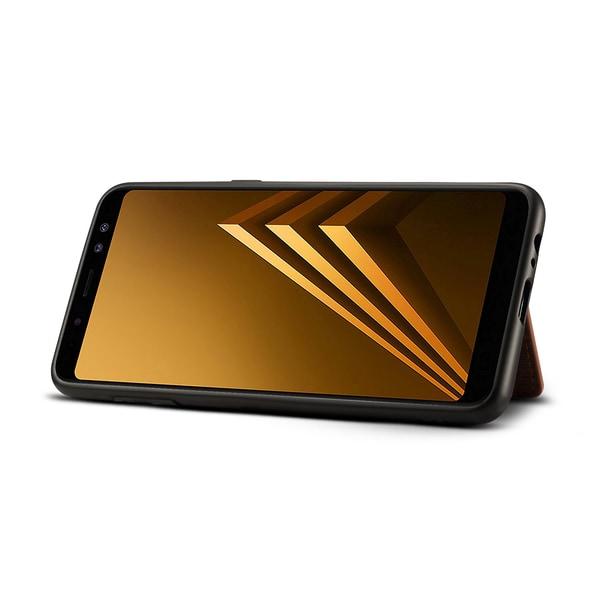 Dibase för Galaxy A8+ Skal med kortplats PU-läder