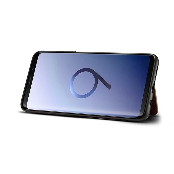 Dibase för Galaxy S9 Plus Skal med kortplats PU-läder