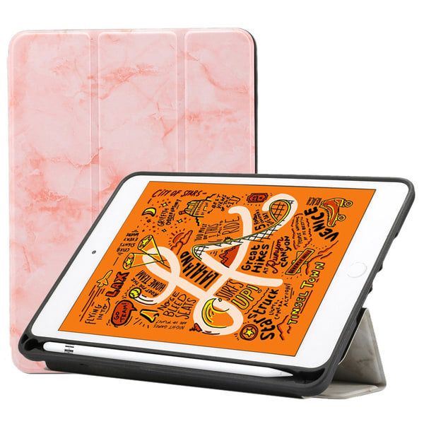 Fodral för iPad Mini (2019) - Rosa Marmormönster