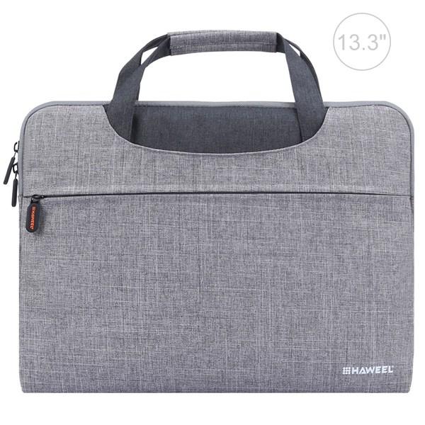 HAWEEL 13.3-tums laptopväska med dragkedja (grå) Grå 13.3-tum