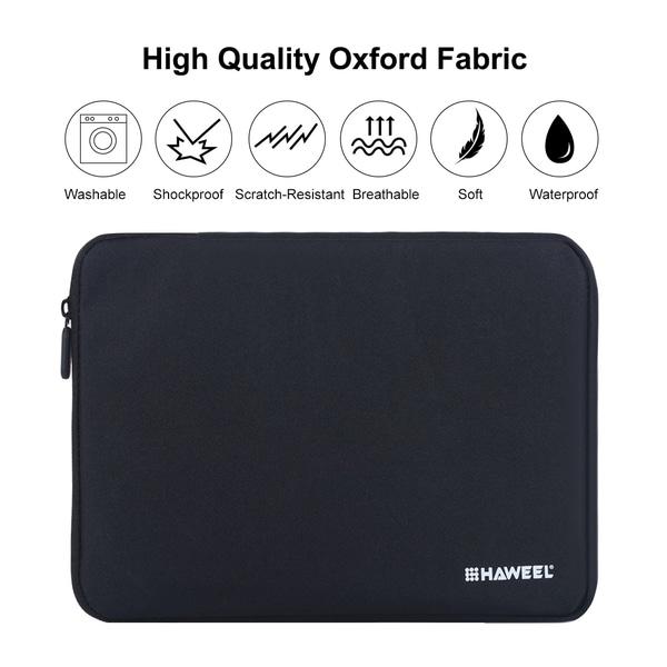 HAWEEL 7.9-tum Laptopväska med dragkedja (svart) Svart 7.9-tum