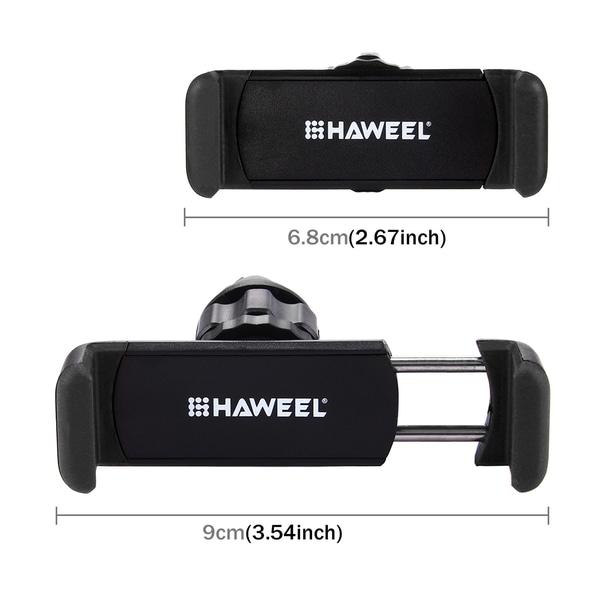 HAWEEL mobilhållare som fästes i bilens ventilationsgaller