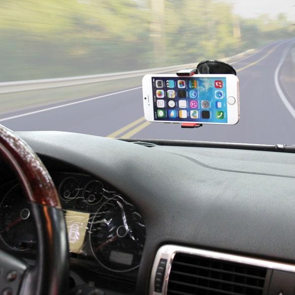 HAWEEL roterande mobilhållare för bilen med sugkoppsfäste