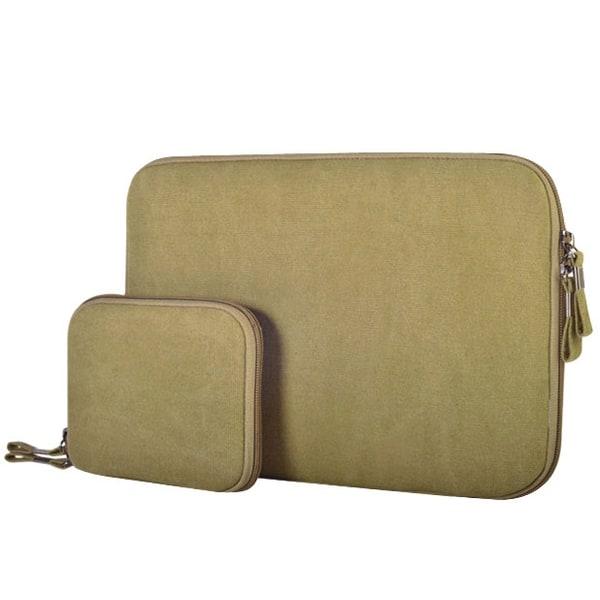 Laptopväska + liten väska 11.6 tum - Jeanstyg Khaki 11.6-tum