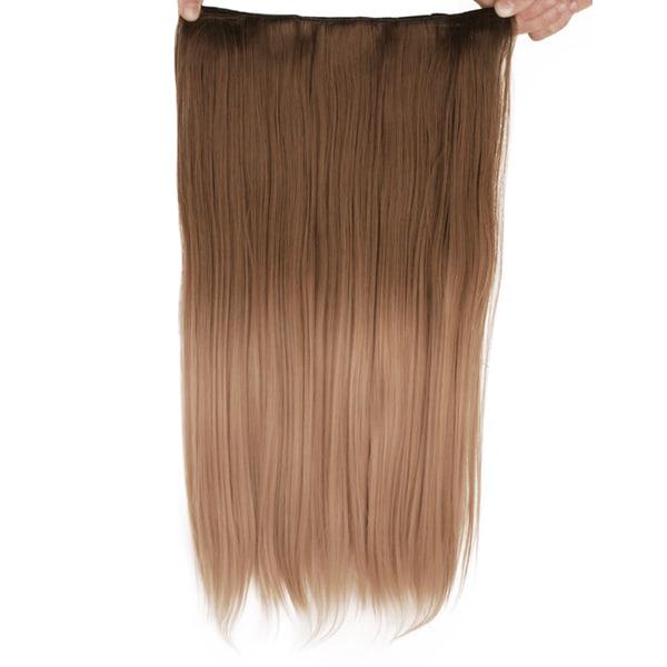 Mizzy löshår rakt 5 Clip on dip dye - Brun&Blond #10T16